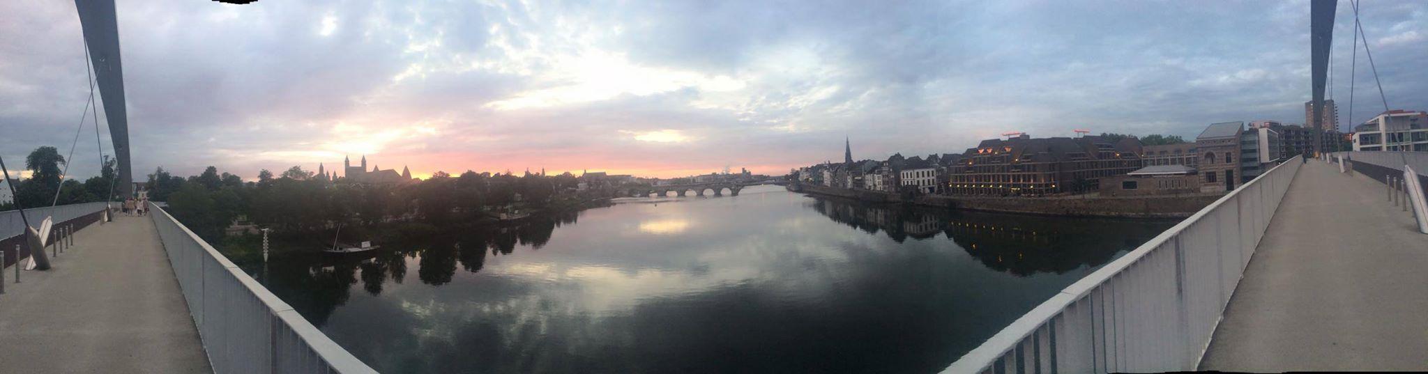 Maastricht at sunset