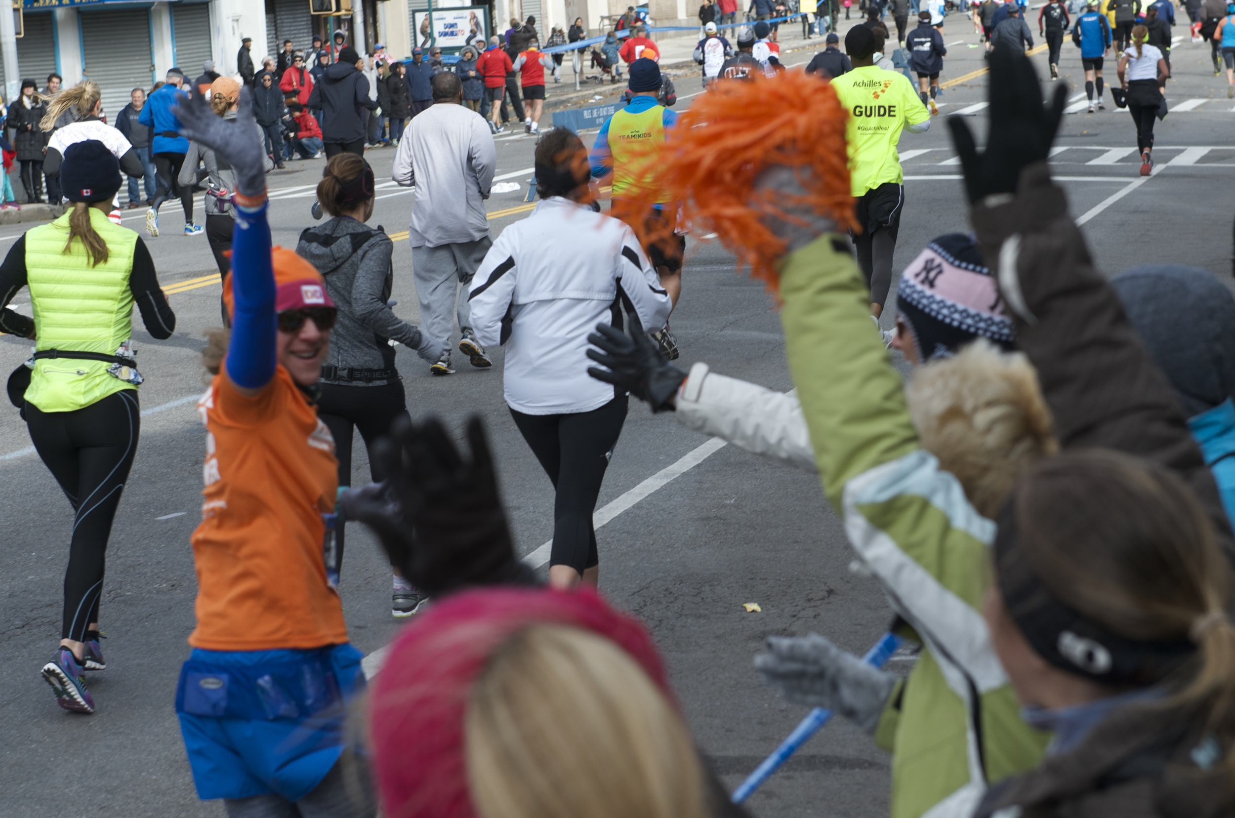 the photo for this post has been updated. showing the fans that supported me at the NYC Marathon and how happy I was to have them there. Each one helped me through this race. Even the people I didn't even know, but were cheering.
