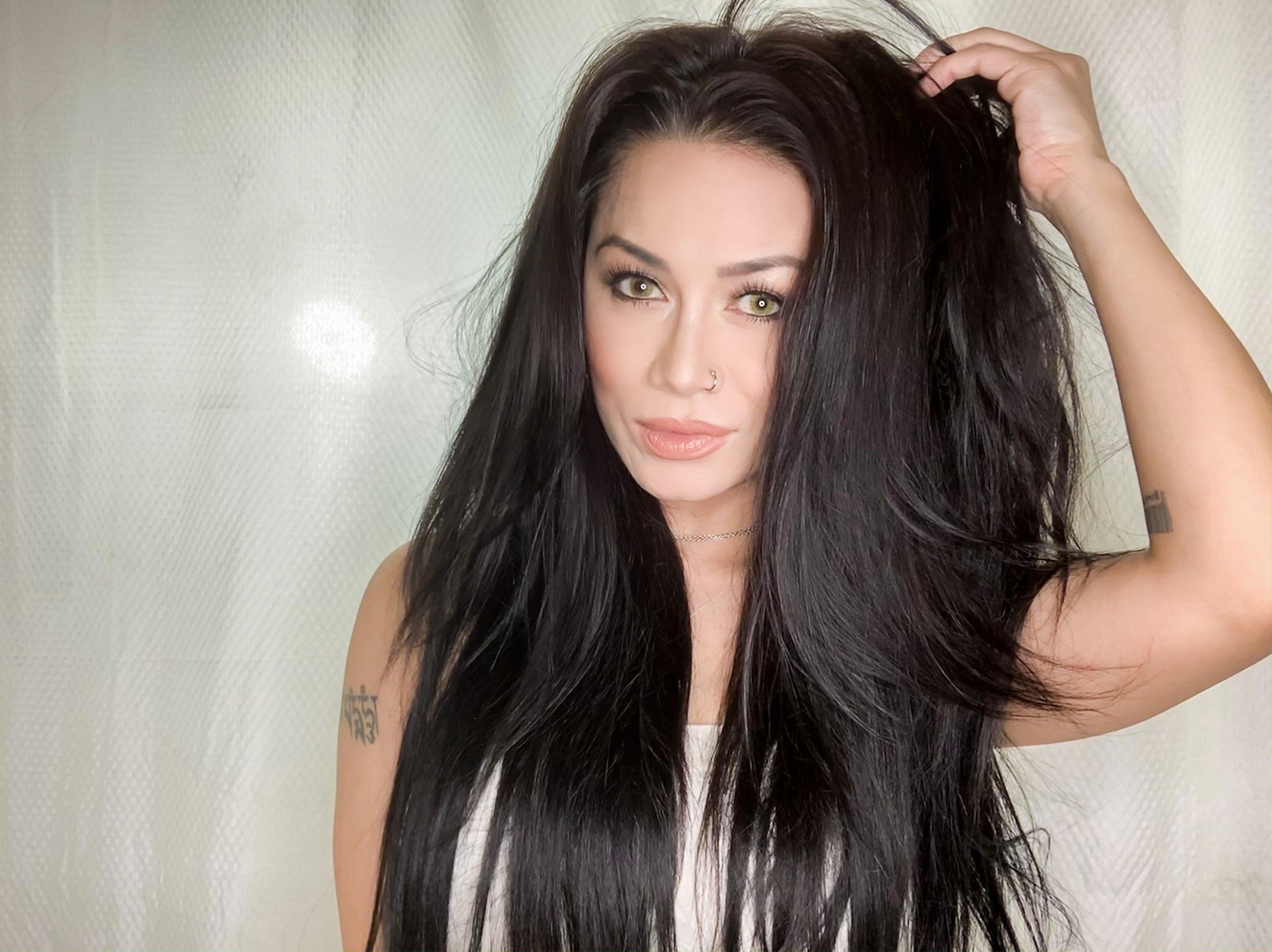 After Brazilian Goddess Remy Hair Application!
