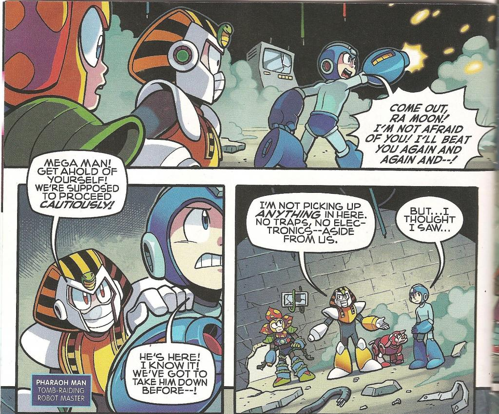 Ironically, this is no different than how Mega Man tends to act when most people are playing his games.