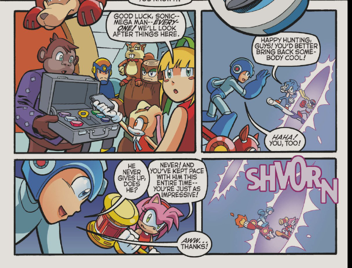 """Both: """"Dibs on the plumber!"""" Sonic: """"Ah, jinx! Now we can't use him at all."""""""