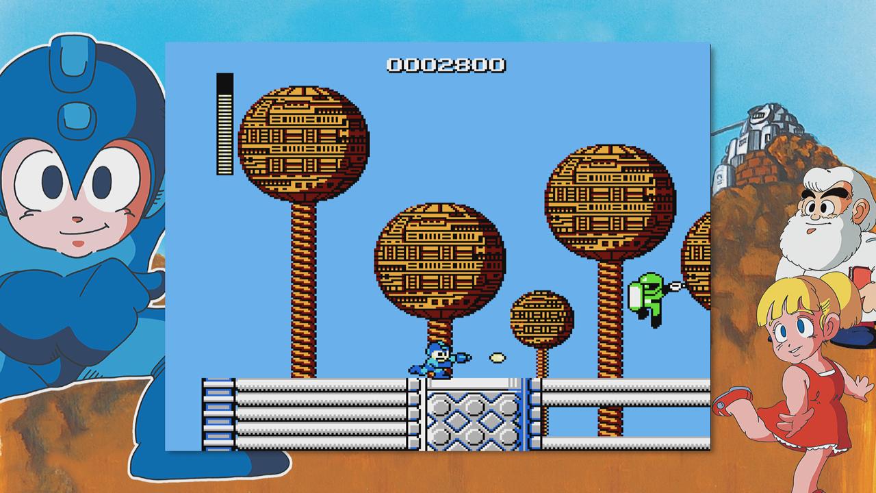 Mega Man is through Joe-king around.