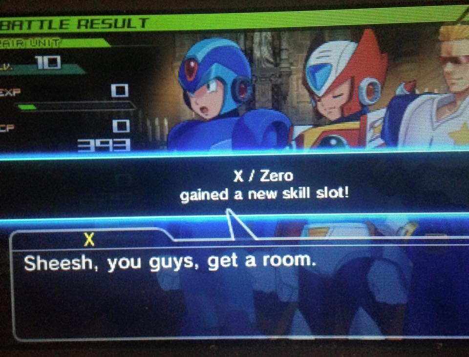 Said as Captain Commando and Zero are patting each other on the back. (via  Nadia Oxford )