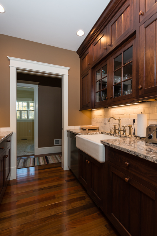 walnut butlers pantry