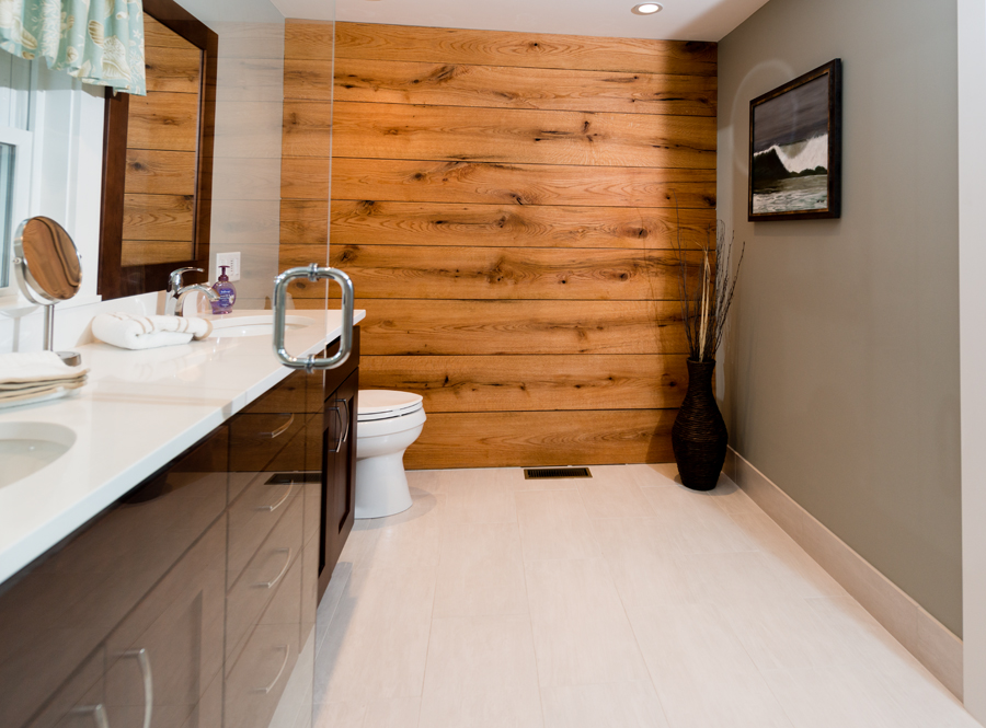 snipatuit master bath wood wall