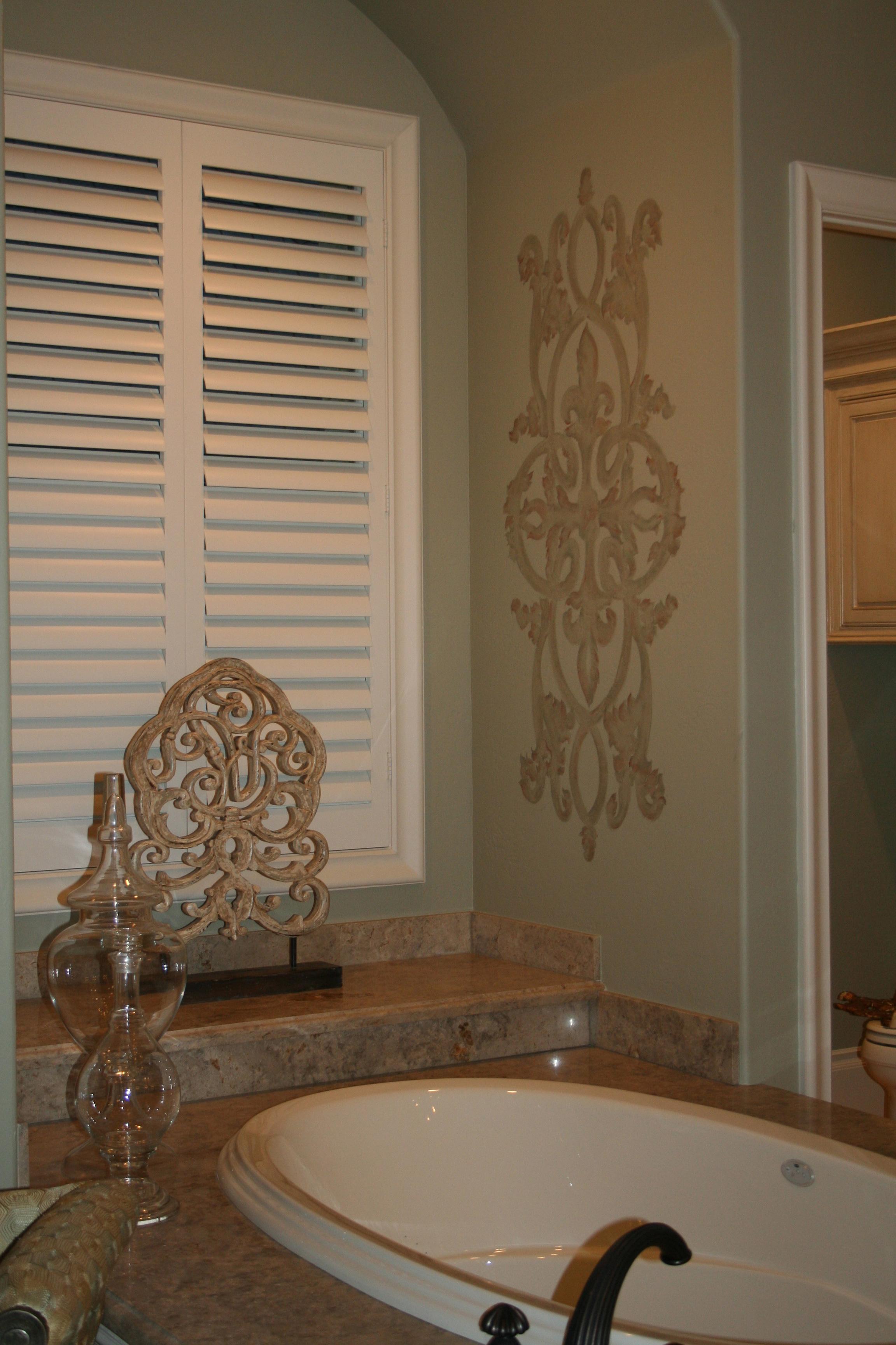 Custom designed pattern for bath