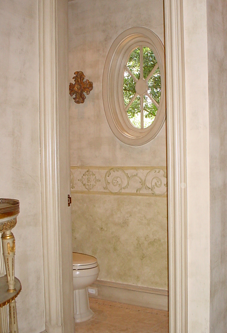 Custom designed decorative wall finish