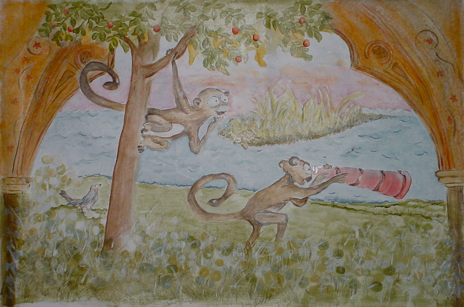 Monkey Play  - acrylic on canvas   Sold