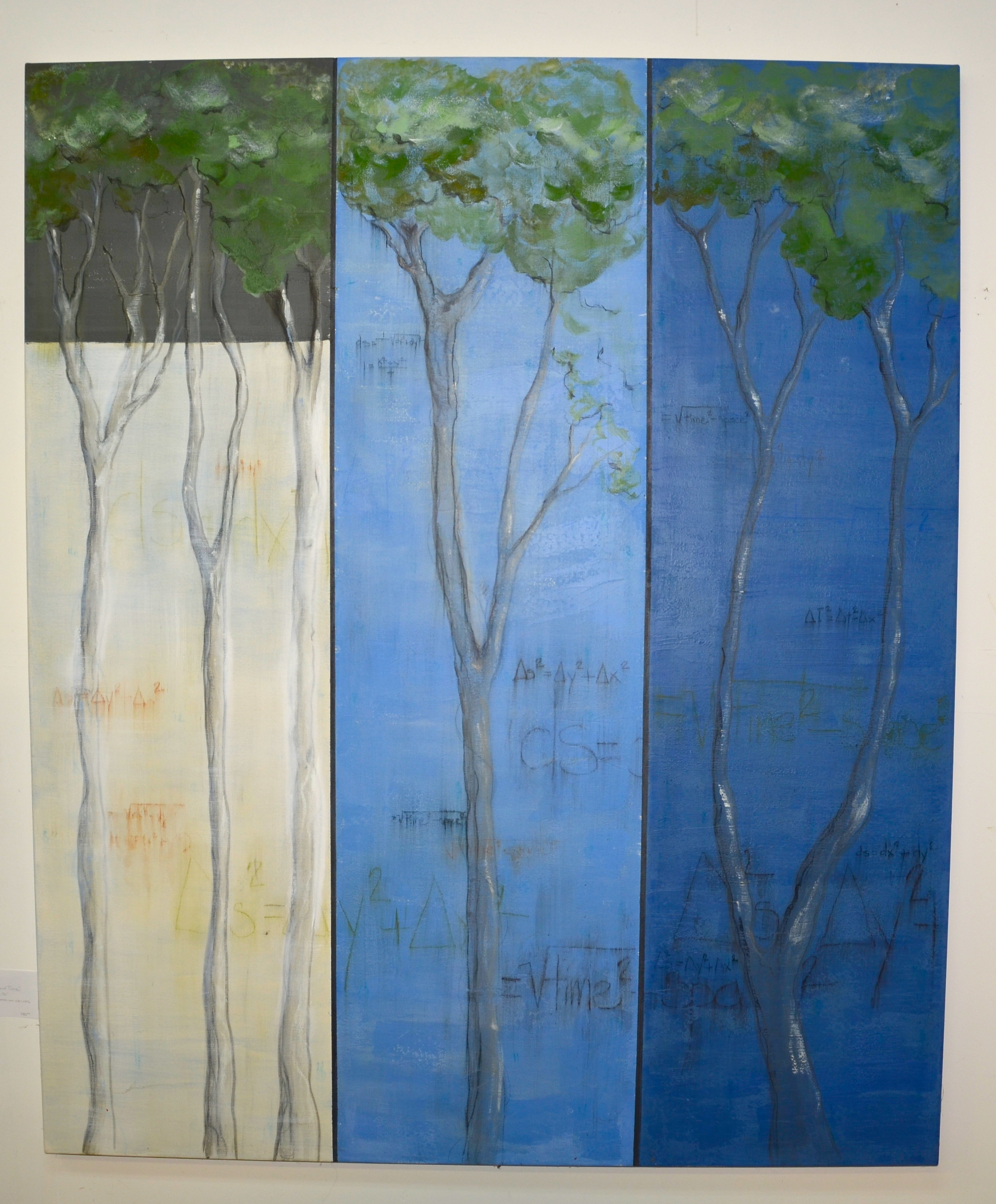 "Trees and Time  - mixed medium on canvas (60""x72"")   sold"