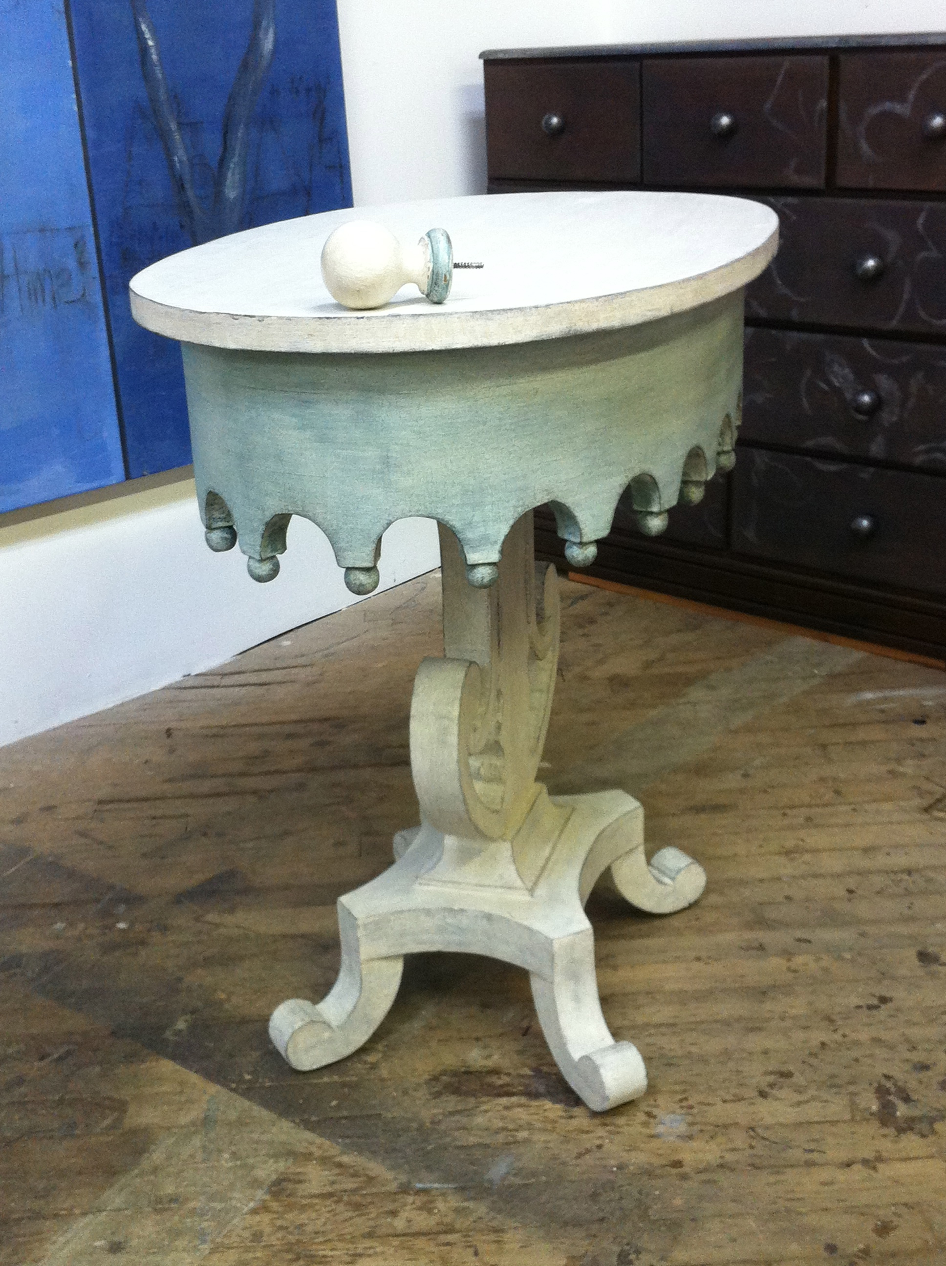 Painted finish for small table