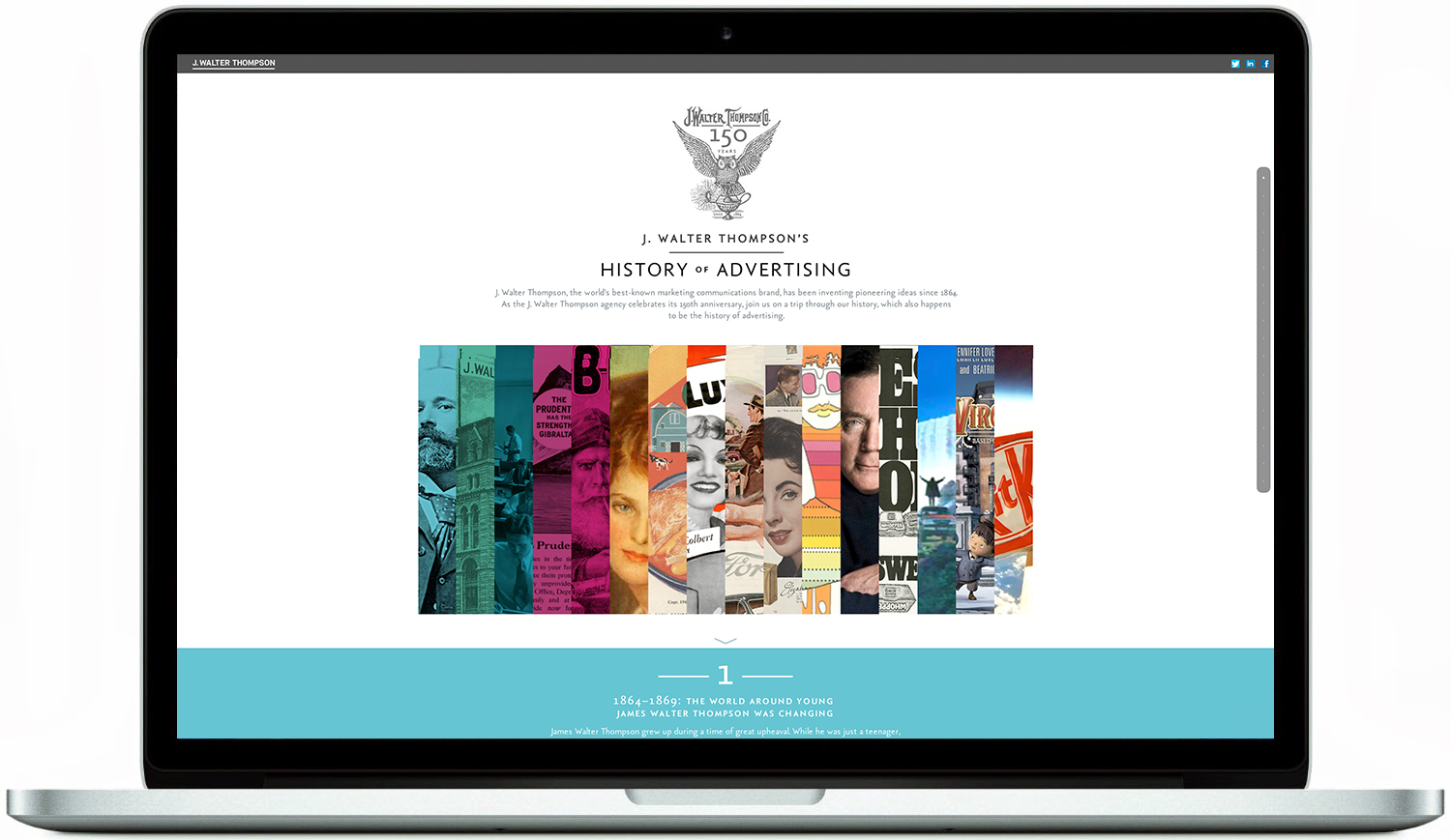 Click to go to J. Walter Thompson's History of Advertising Website