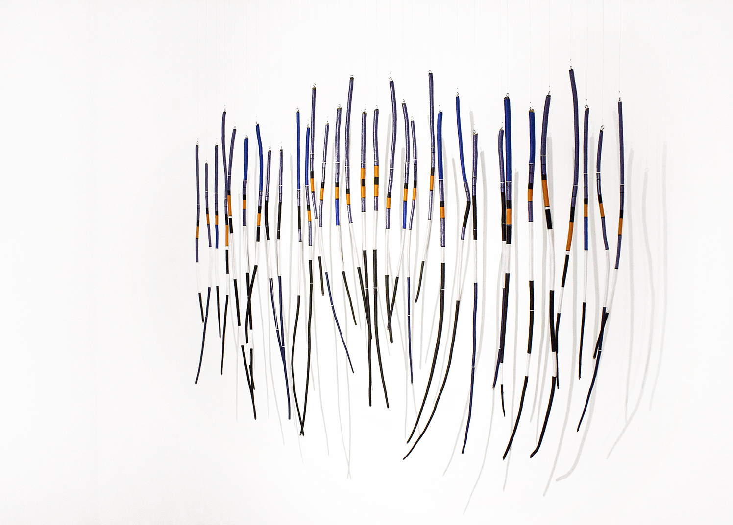 VICEROY, 2016, yarn and found pine branches, 110cm x 140cm
