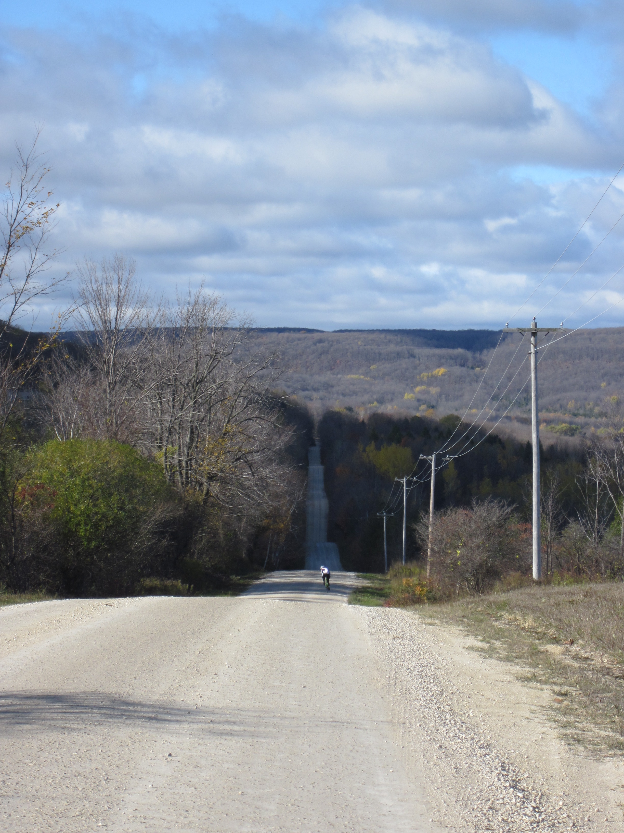 Gravel rollers heading toward Pretty River Valley - great scenic look out point