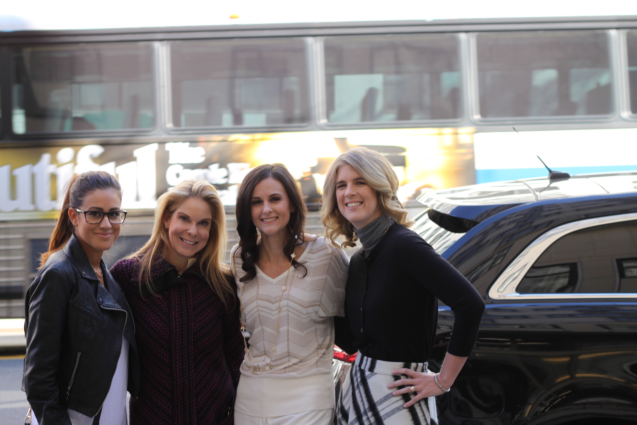 Left to Right - Me, Jen with  JJBPR.com , Kelly & Carol - founders of PREP Cosmetics.