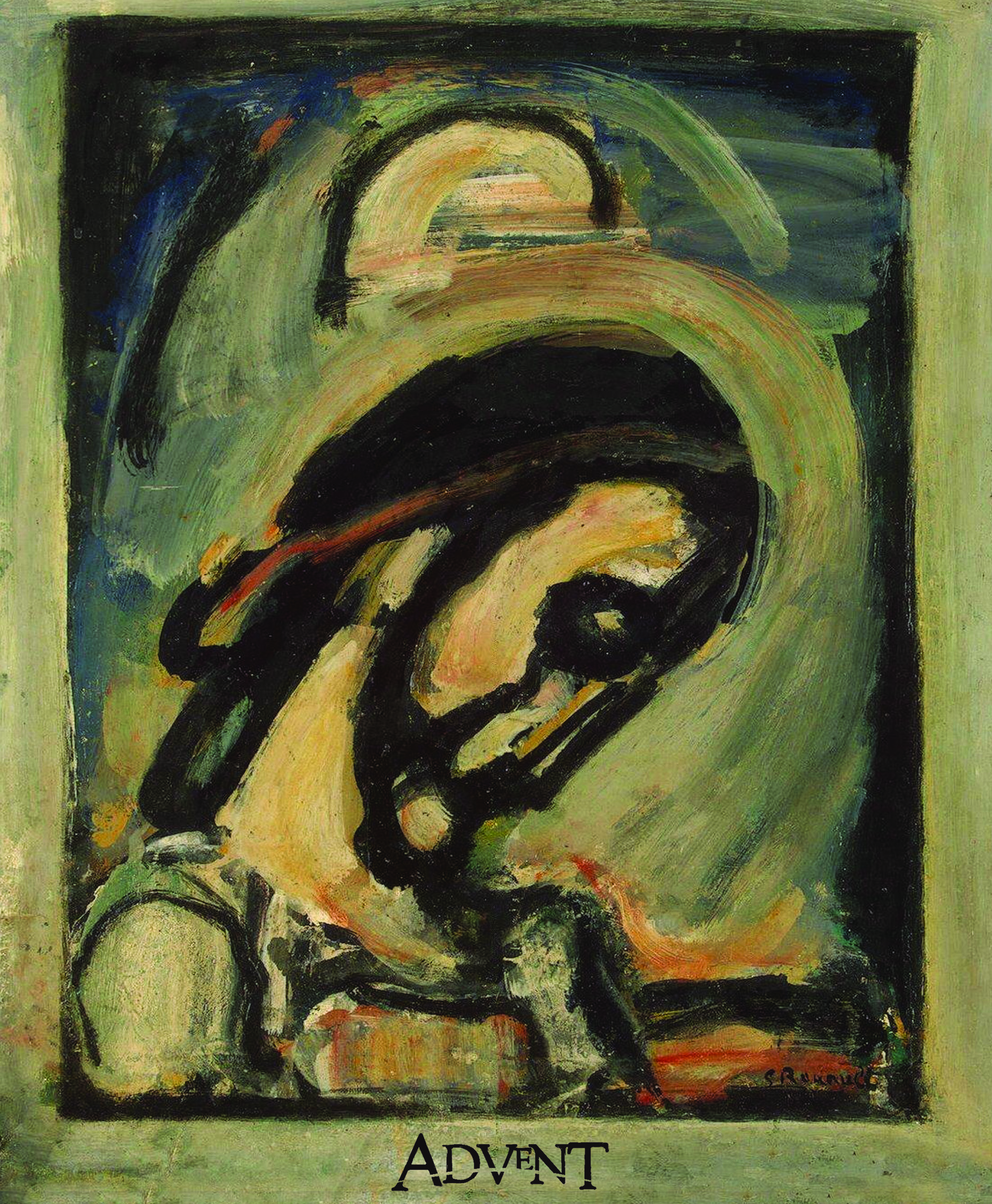 """Head of Christ - 1939"" - Georges Rouault on the Advent bulletin cover."