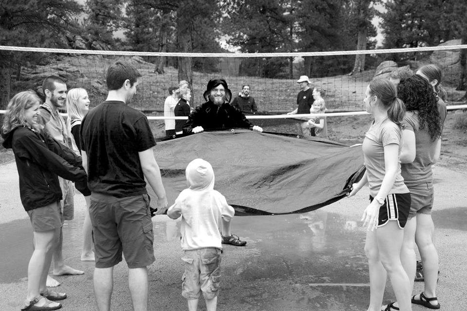 Fun in the rain on our annual camping trip!