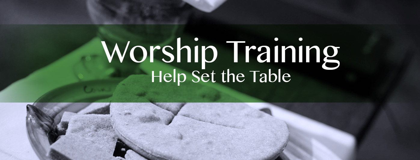 """If you signed up to """"Help set the table"""" by serving as a crucifer, reader or chalice bearer, it's important to attend this training time. We'll spend about 20 minutes talking about our liturgical form of worship and the role you'll be playing in the service. If you haven't signed up yet but are interested in serving during Sunday morning worship, I hope you'll take advantage of this  opportunity to learn more about our liturgical service and the ways you can serve."""