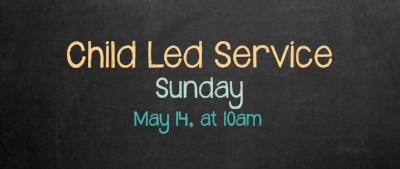 child led service children's ministry sunday