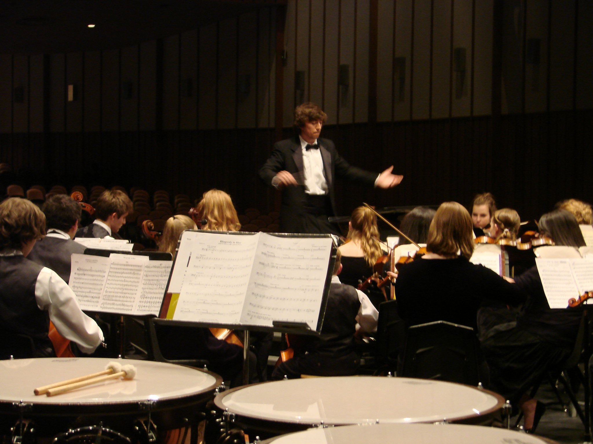 Dylan Conducting the Cottonwood High School Orchestra