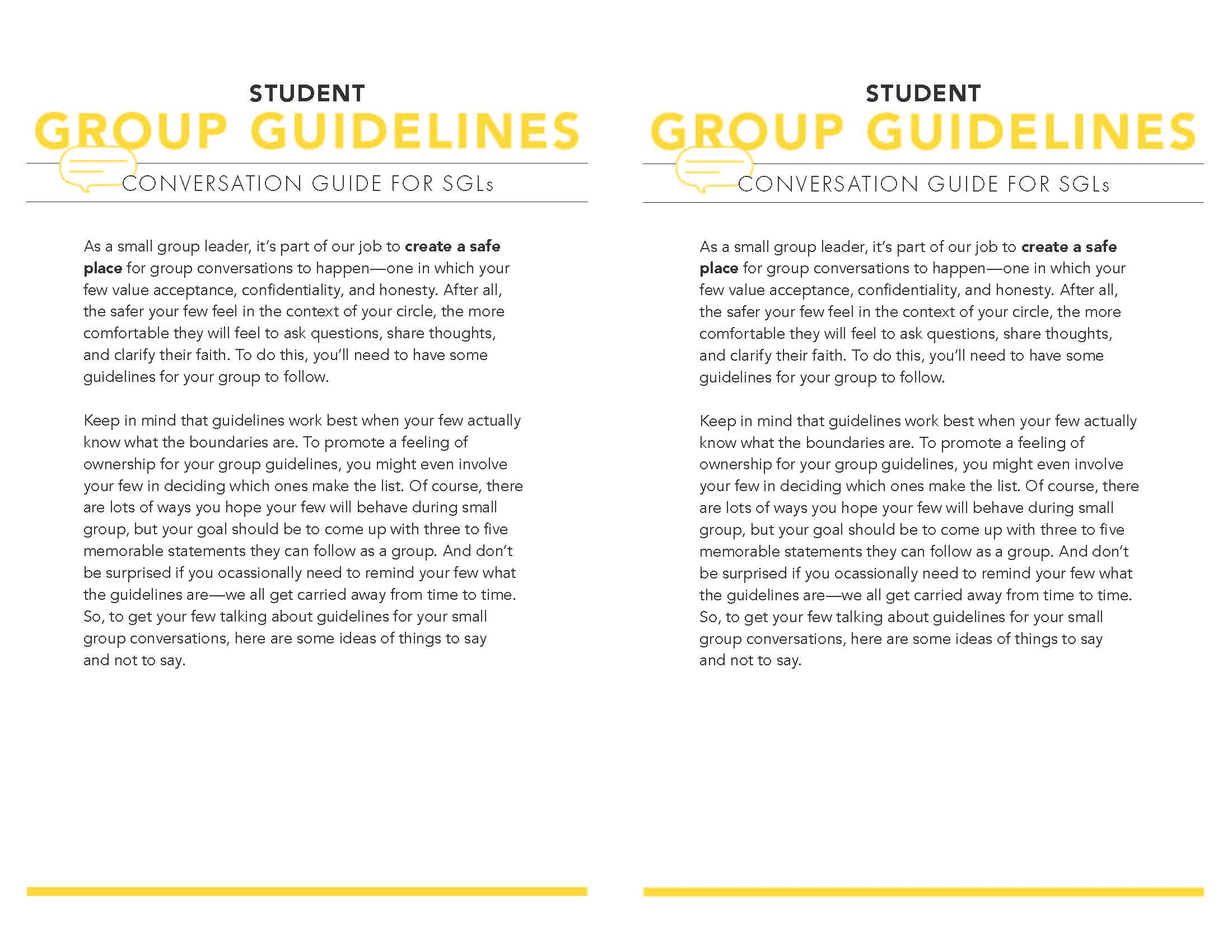 Group Guidelines Page 1