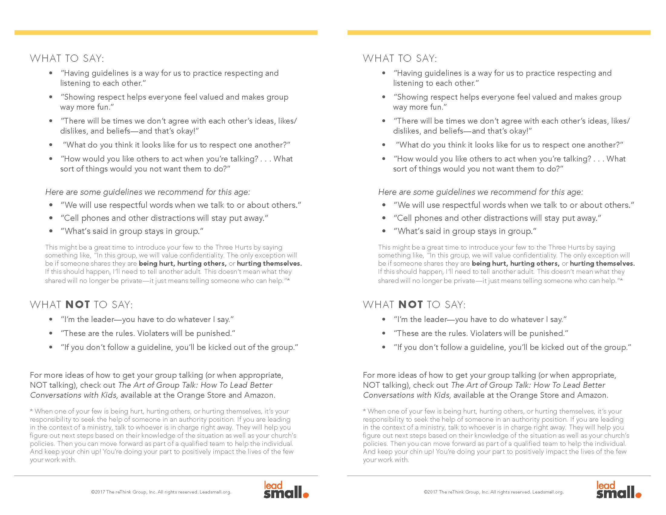 Group Guidelines Page 2