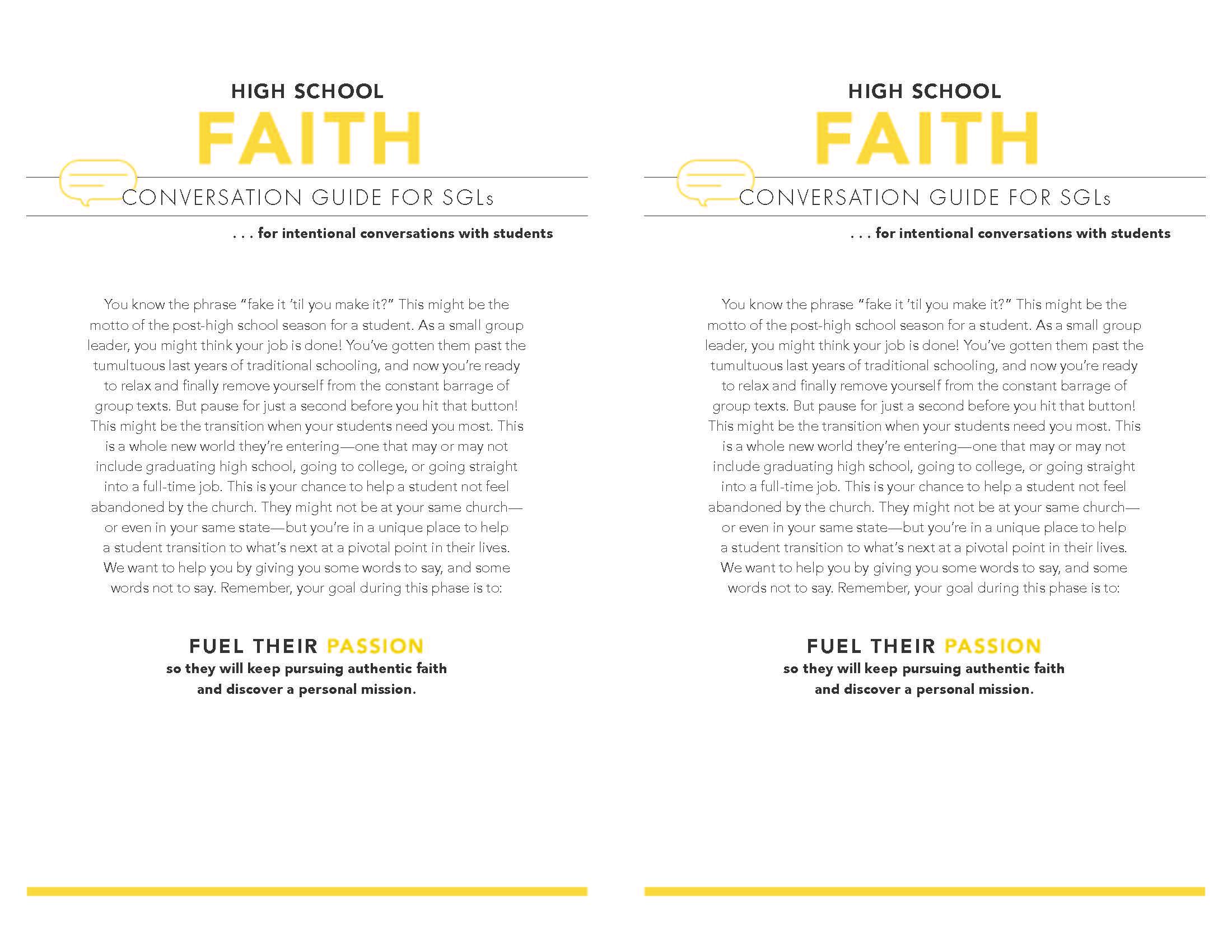 High School Faith Page 1