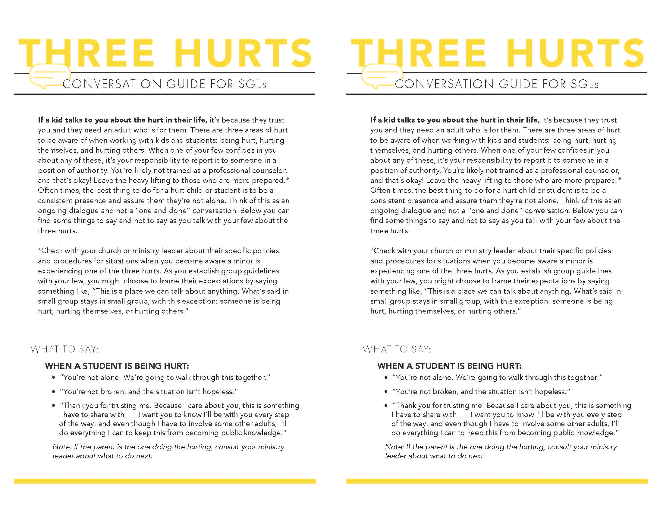 The Three Hurts Page 1