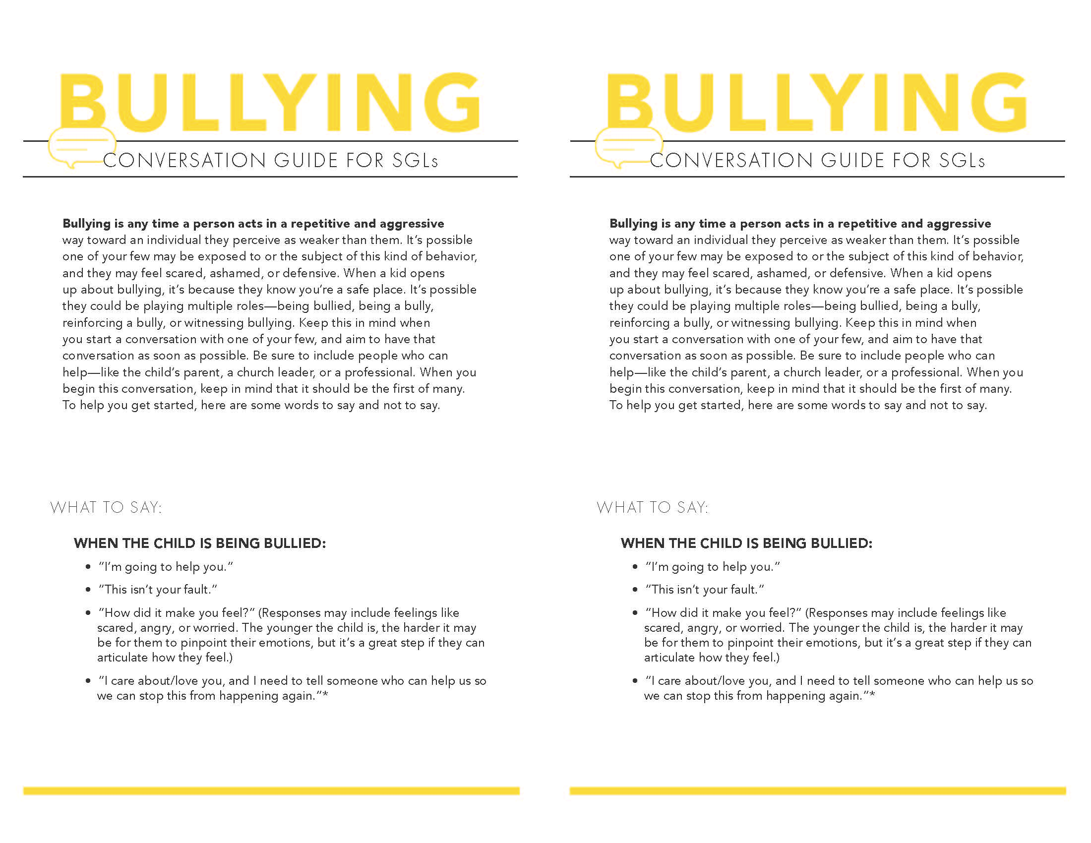 Bullying Page 1