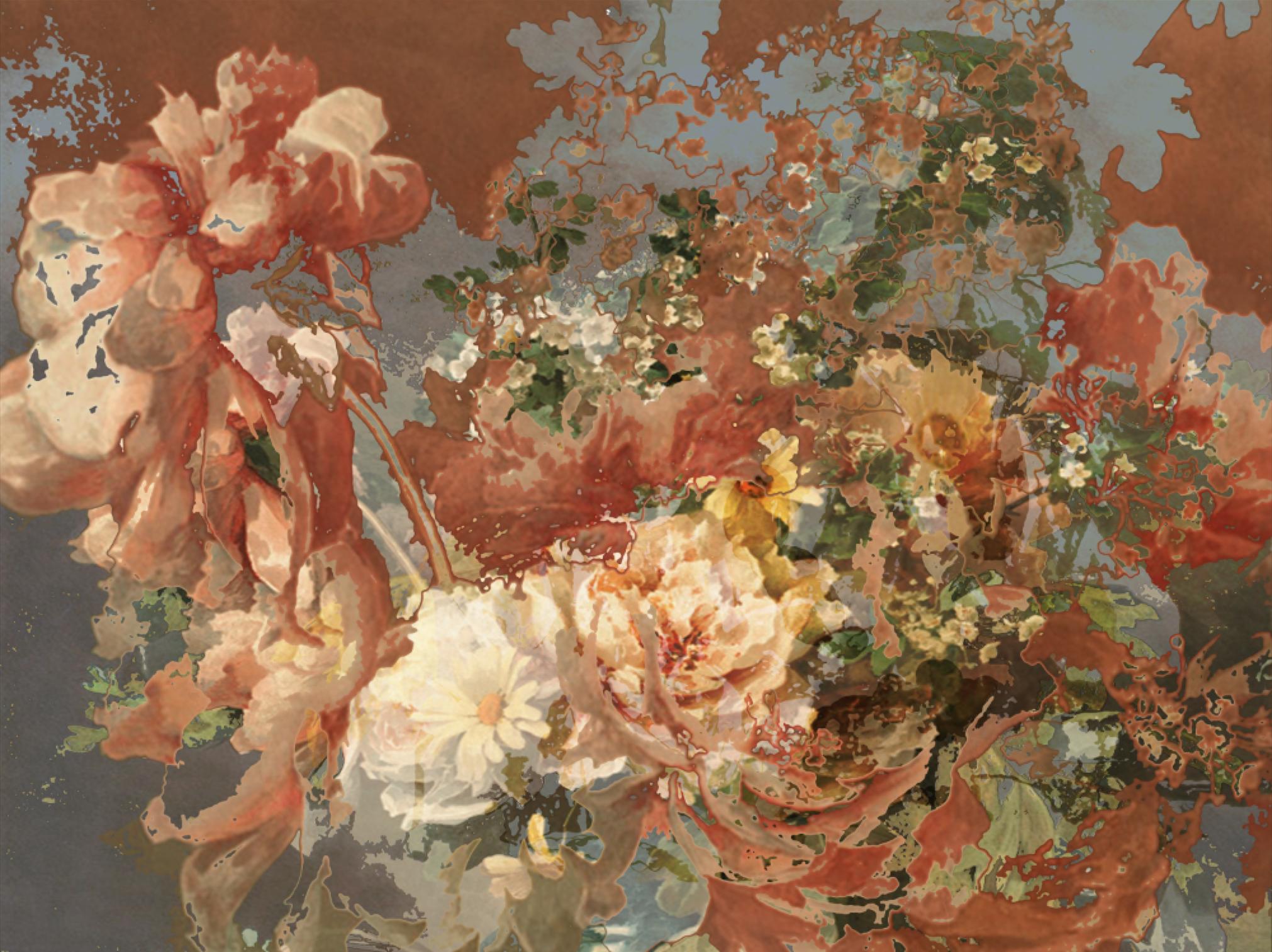 Antique Flowers I