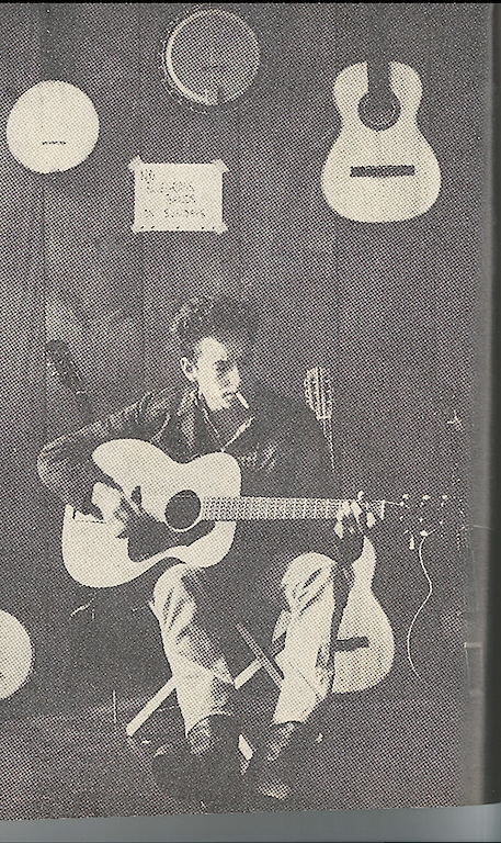 My Grandfather's photograph of Bob Dylan from the pages of Cosmopolitan.