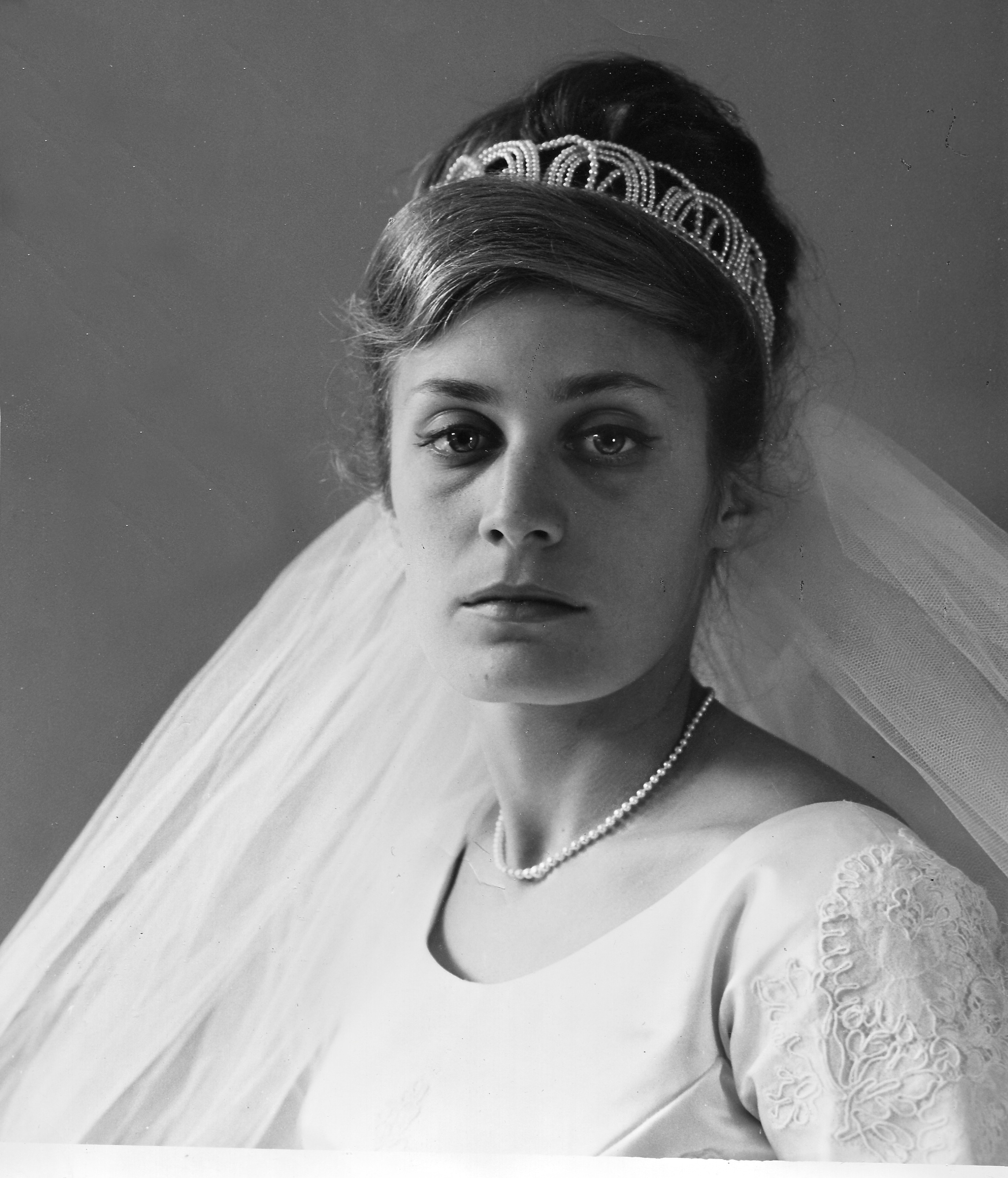 My mother as photographed by my grandfather on her Wedding Day