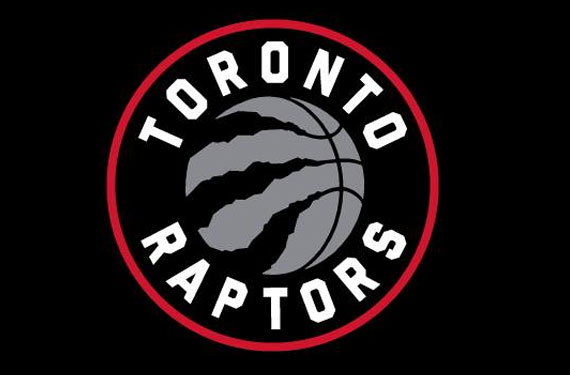 The Raptors new(ish) logo, loosely modelled on The Weeknd's hair.