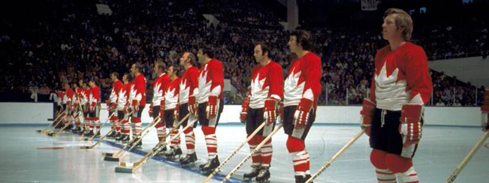 Team Canada's beautiful Summit Series jerseys from '72.
