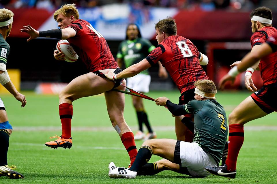 Things get heated at the Rugby Sevens. (Photo by Taehoon Kim)