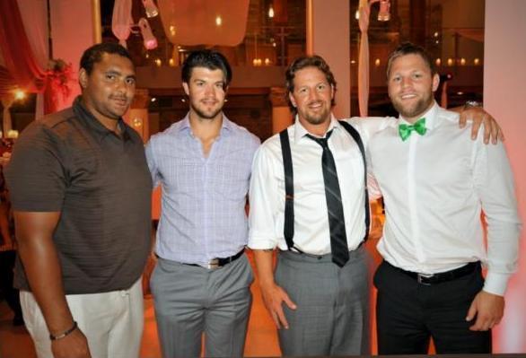 The infamous Dustin Byfuglien wedding photo.
