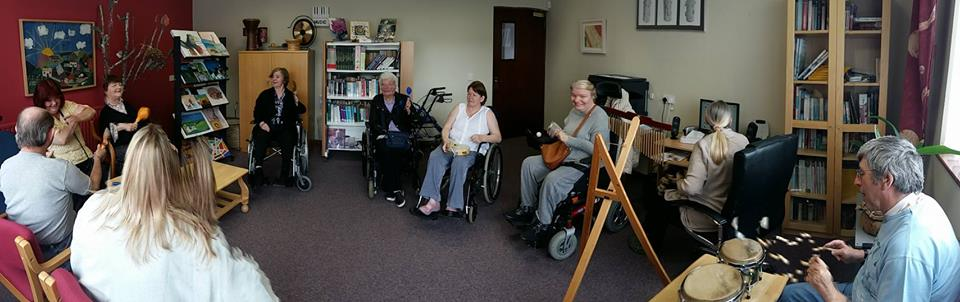 The music room in full session