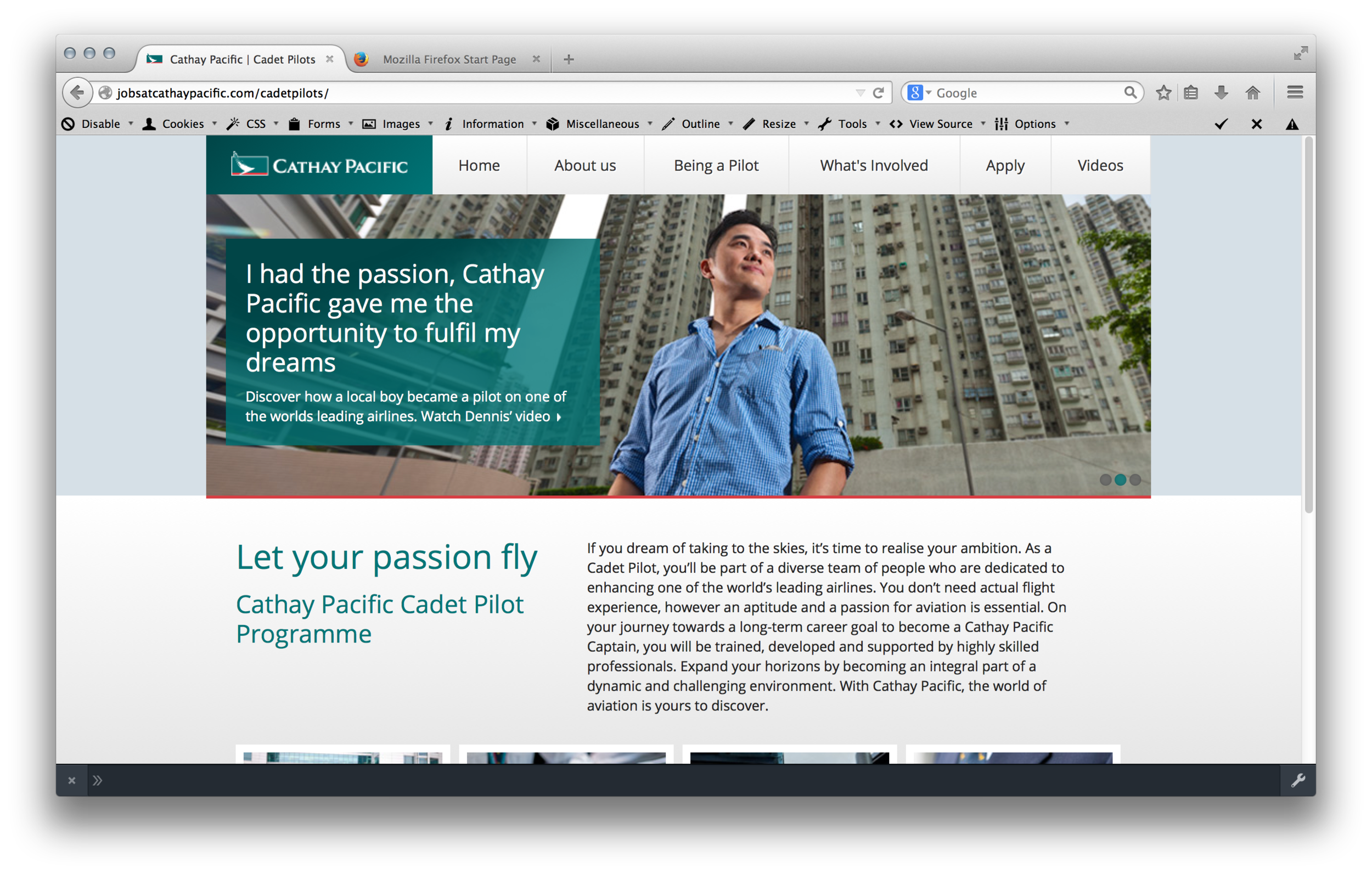 Cathay Pacific Cadet Pilot