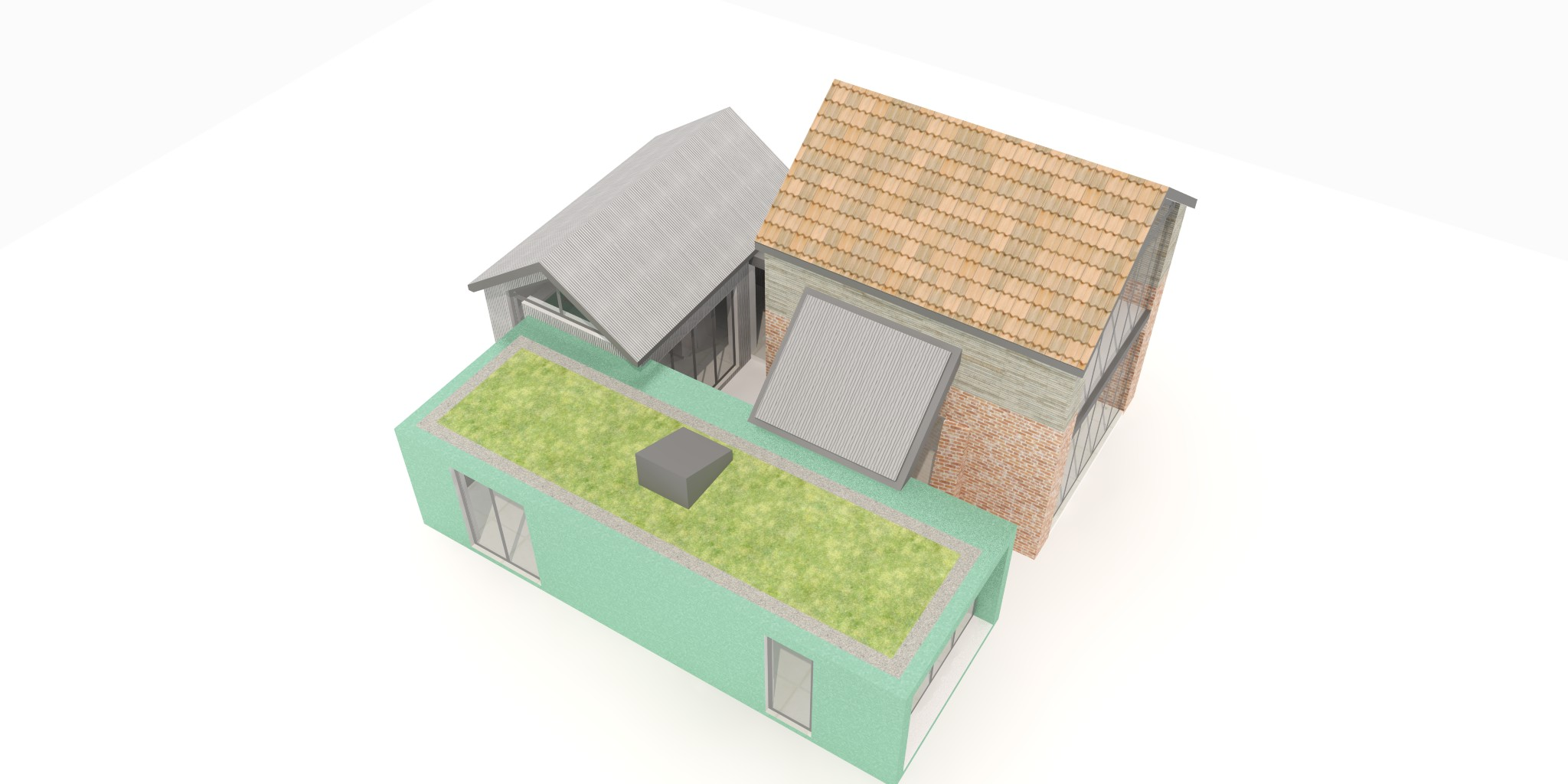 Wild flower roof and solar thermal panels