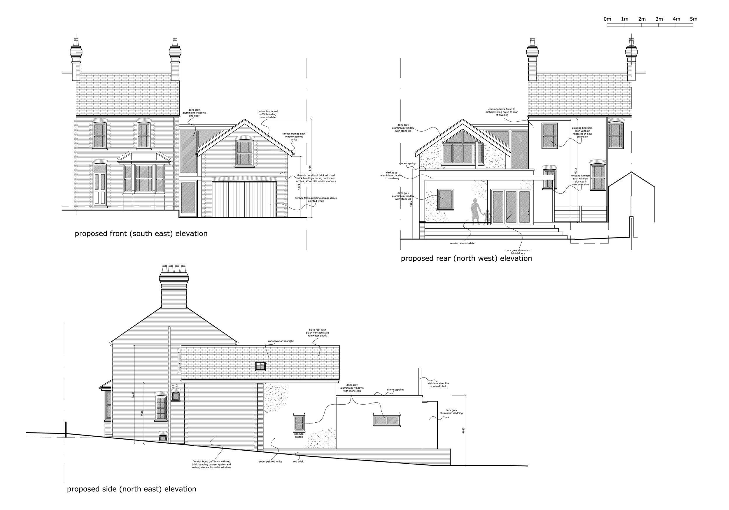 Planning approved elevation drawing