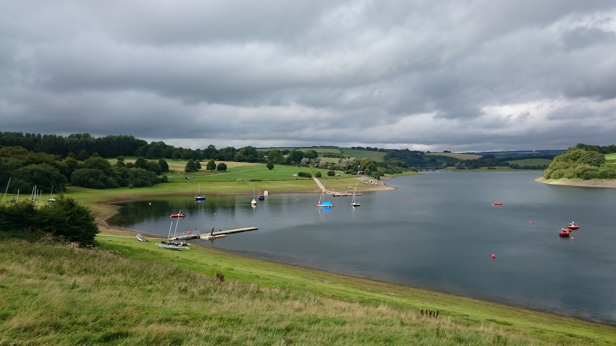 A moody looking Wimbleball Lake