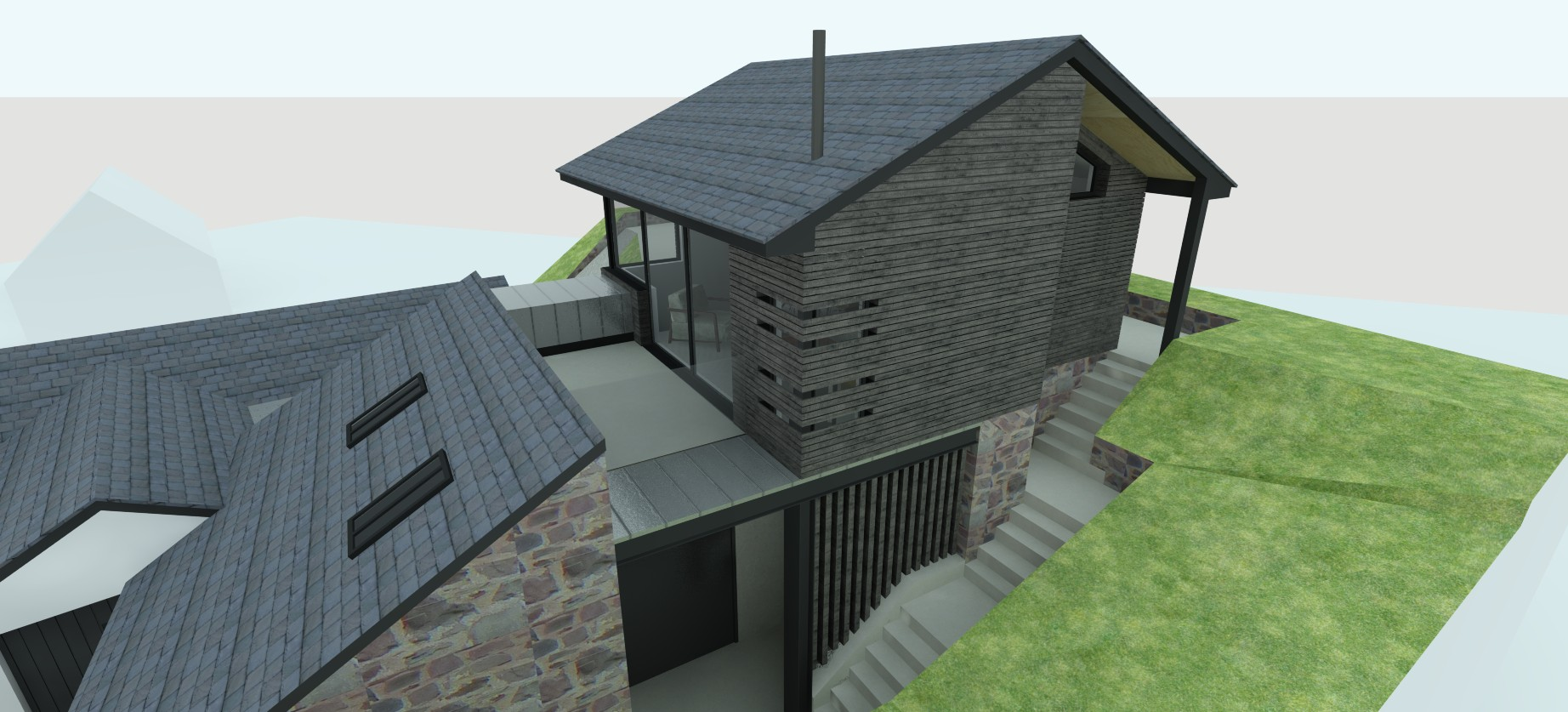 contemporary rear extension exmoor nick thorne planning