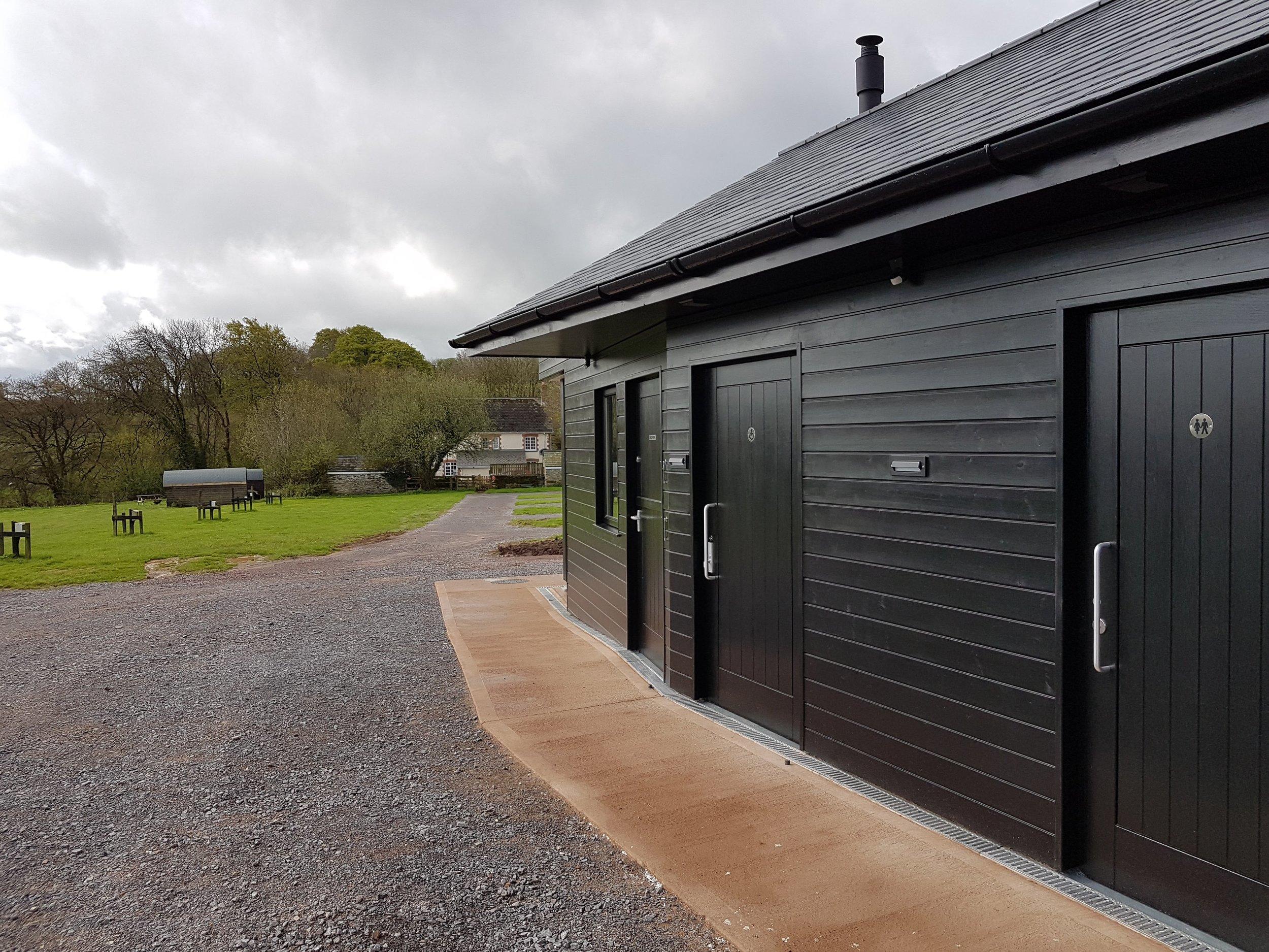 New build wash block in Exmoor