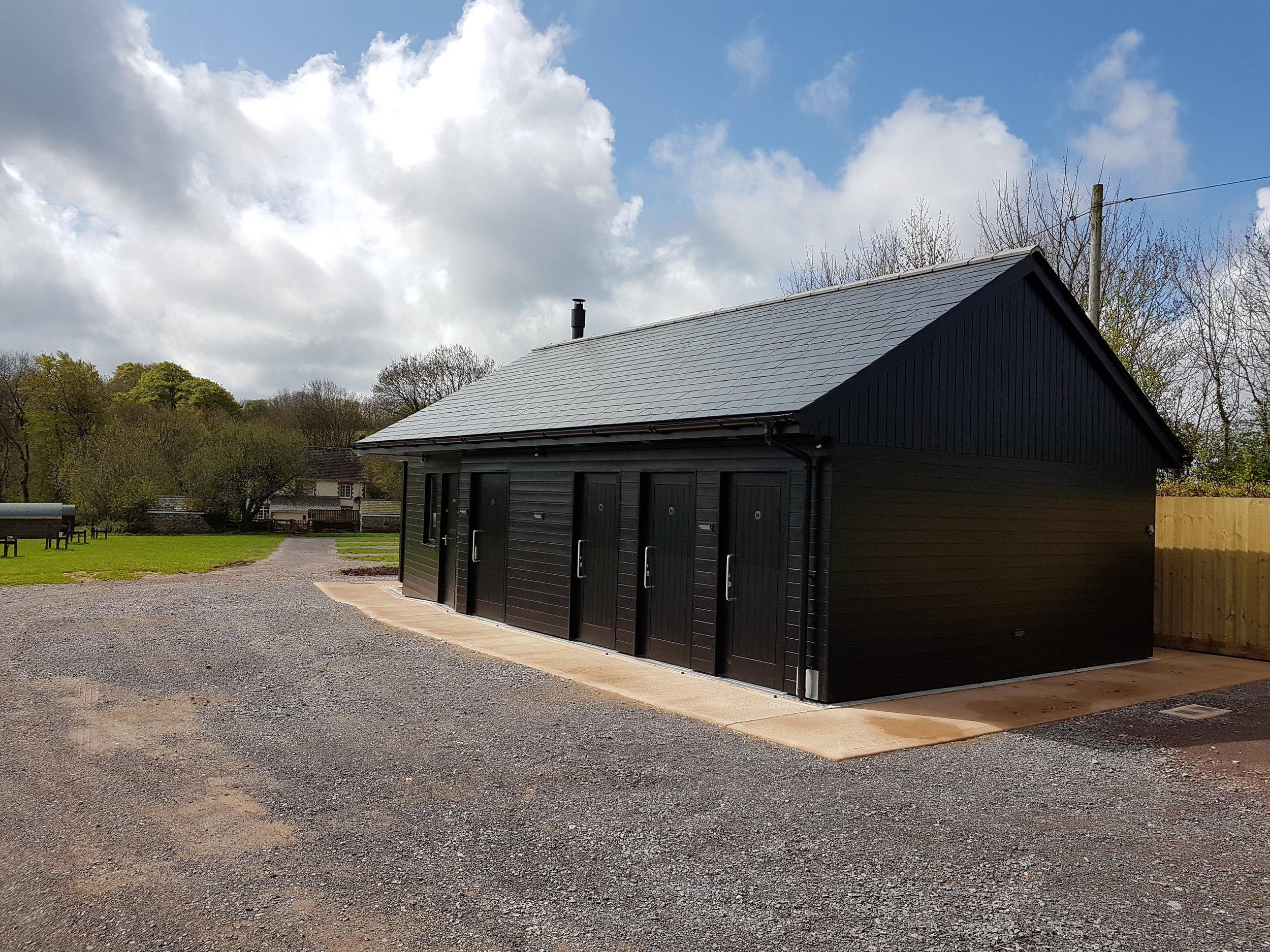 Campsite wash block in Exmoor