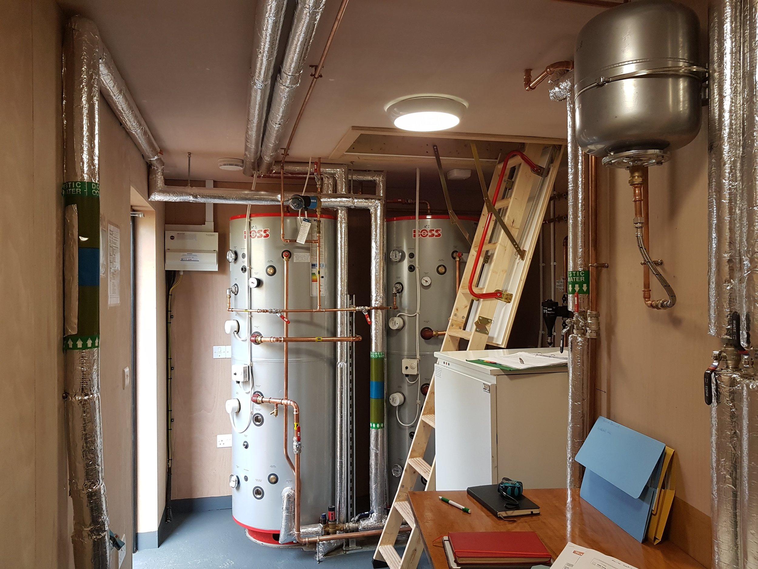 Campsite wash block plant room