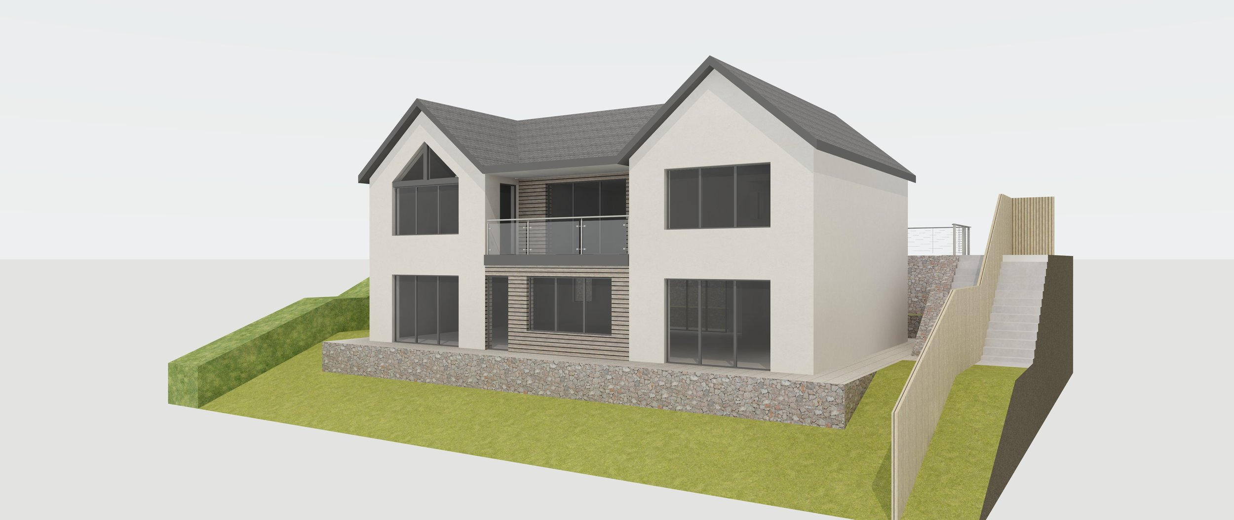 The rear elevation will benefit from panoramic views over rolling countryside to Exmoor National Park and the Bristol Channel.
