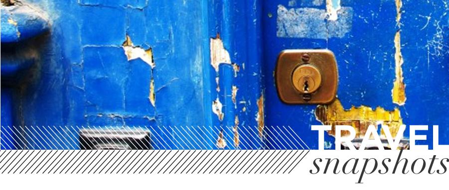 travel snapshots blue door