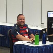 Deputy Hillak - hard at work & smiling!