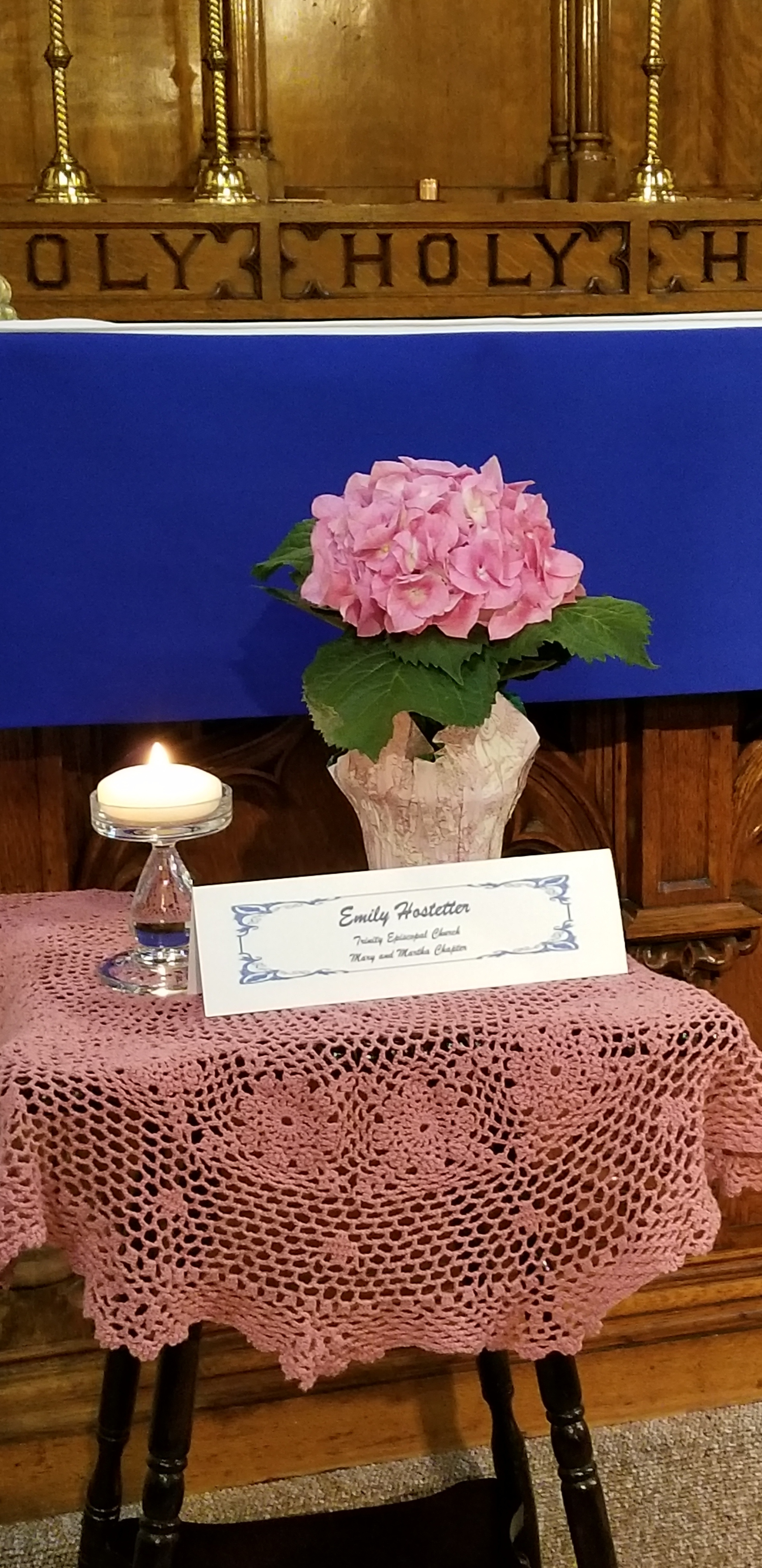Service of Remembrance for Emily Hostetter
