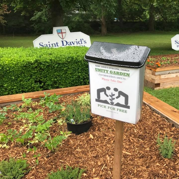 First planting of the Unity Garden at Saint David's, Elkhart.