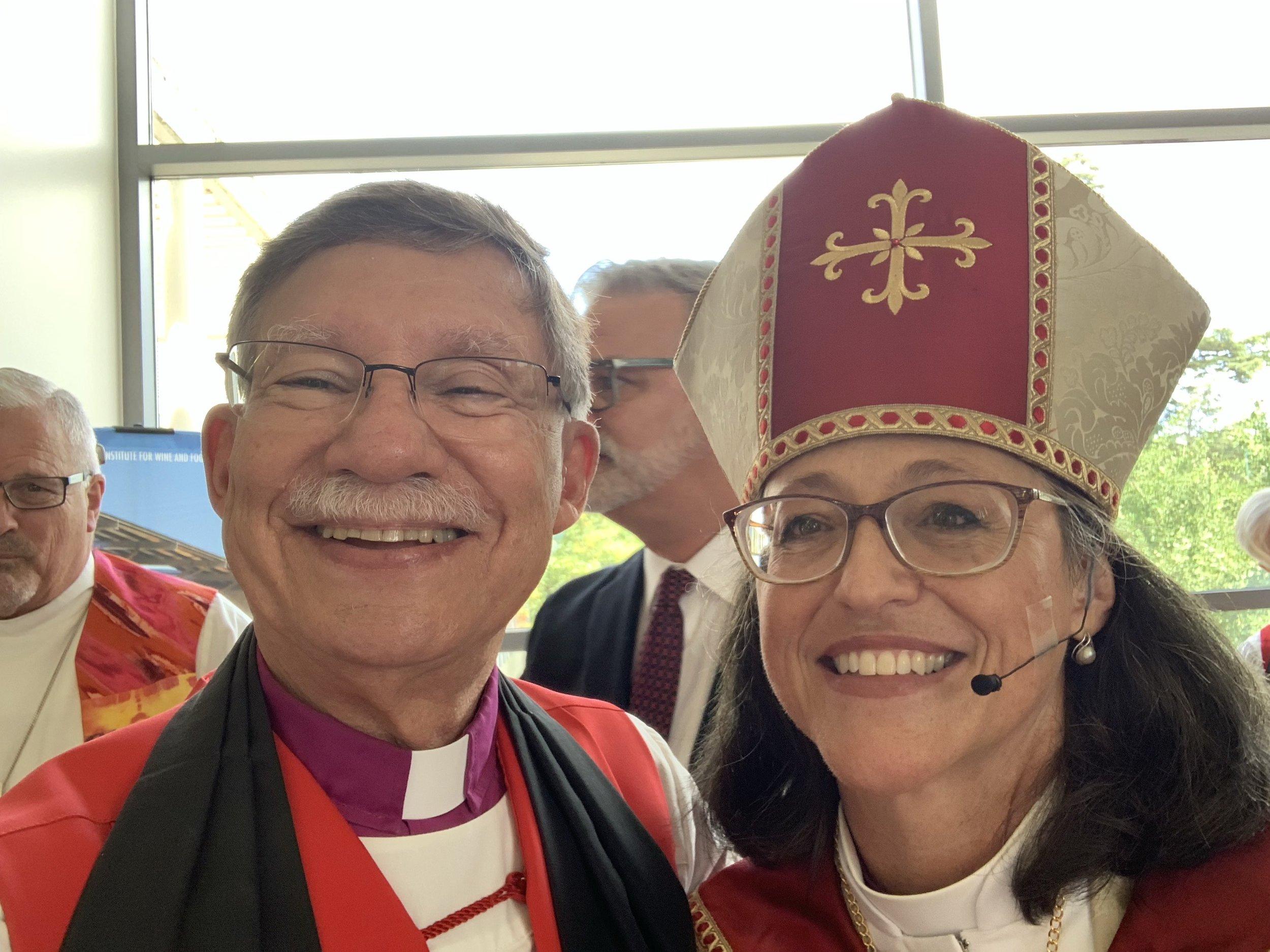 Bishop Ed Little and Bishop Megan Traquair